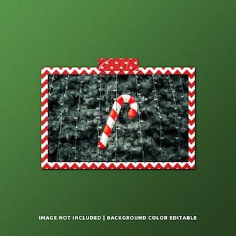 クリスマスの風景紙フレームモックアップ
