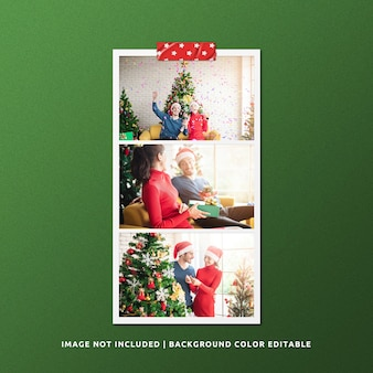 크리스마스 풍경 종이 프레임 사진 모형