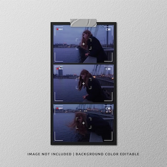 Макет альбомной бумажной фоторамки с видоискателем