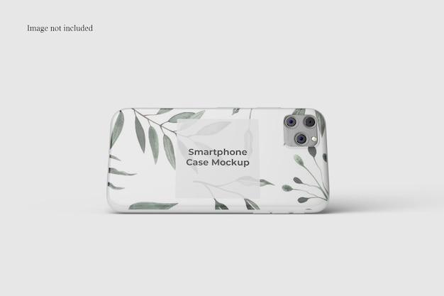 Landscape smartphone case mockup design isolated