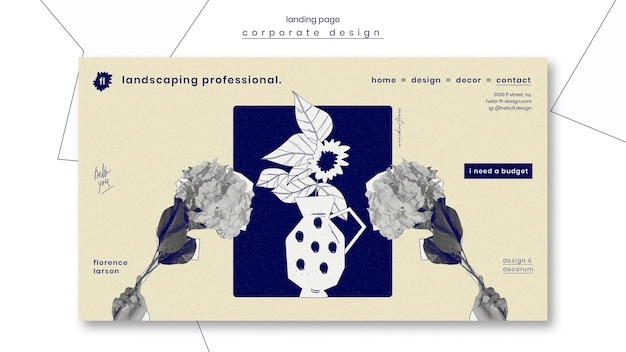 Landscaping professional landing page template
