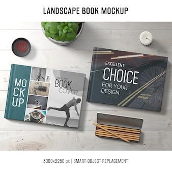Lanscape book mockup