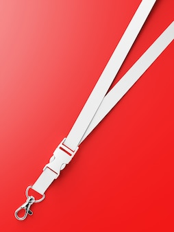 Lanyard mockup isolated