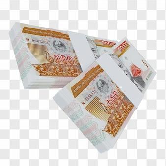Валюта лаоса 20.000 кипов: стопка банкнот лаоса лаоса