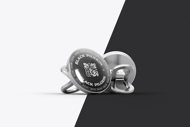 Дизайн макета нагрудного значка изолирован