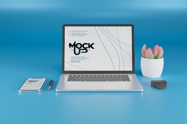 Дизайн макета экрана ноутбука и смартфона