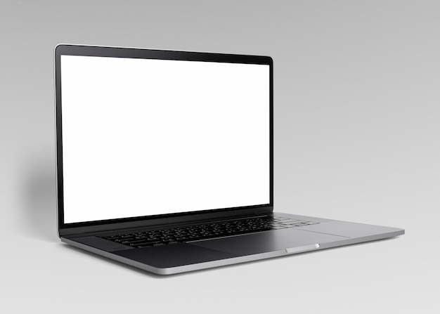 Цифровое устройство макета черного экрана ноутбука
