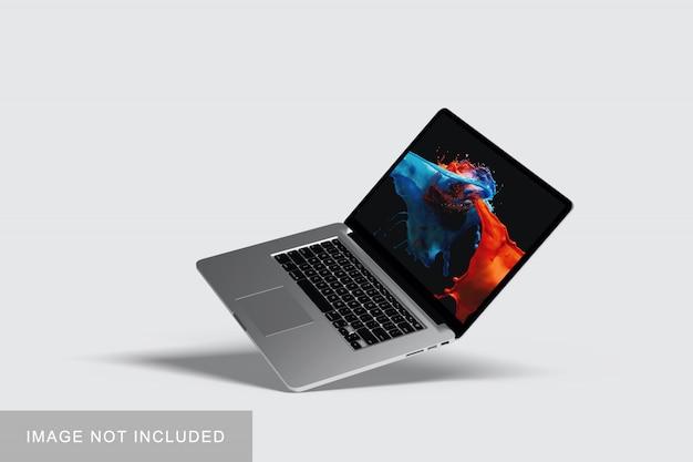 ラップトップコンピューターのモックアップ