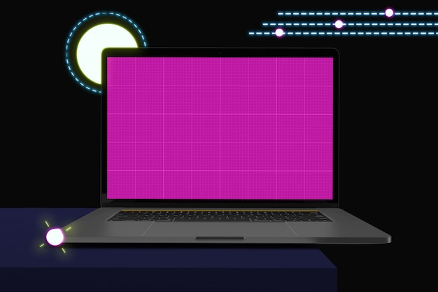 이랑 화면, 멤피스 스타일 노트북 컴퓨터