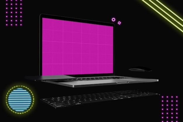 이랑 화면 노트북 컴퓨터