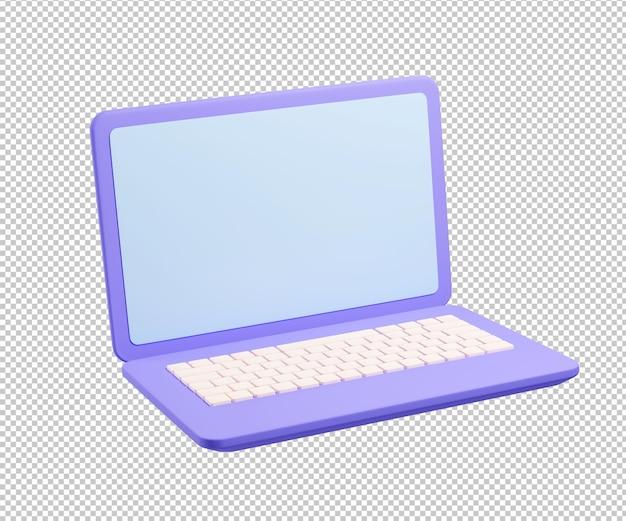 Ноутбук устройство 3d рендеринга иллюстрации