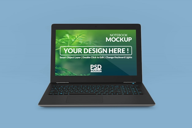 Laptop device mock up screen