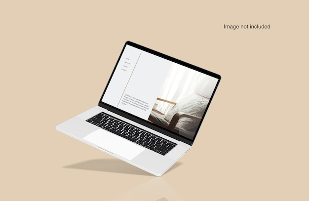 Laptop device mockup