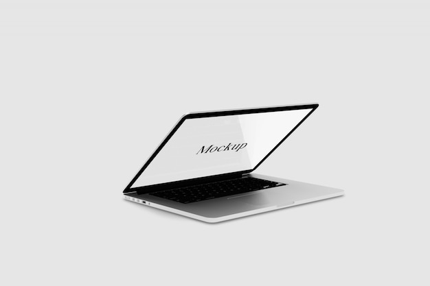 Laptop digital device mockup