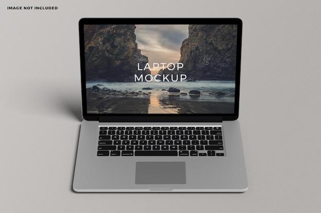 ノートパソコンのデジタルデバイスの画面のモックアップ
