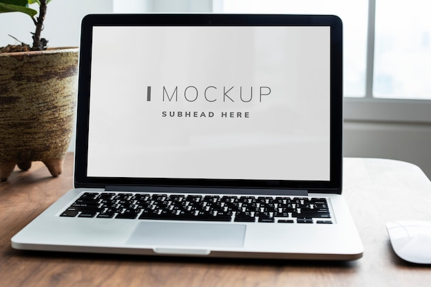 Laptop digital device screen mockup