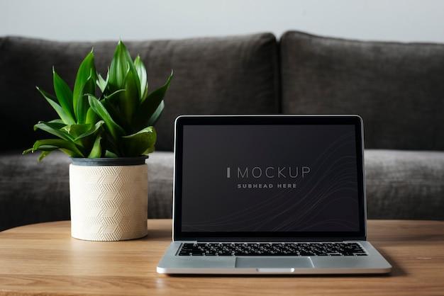 Макет экрана цифрового устройства ноутбука