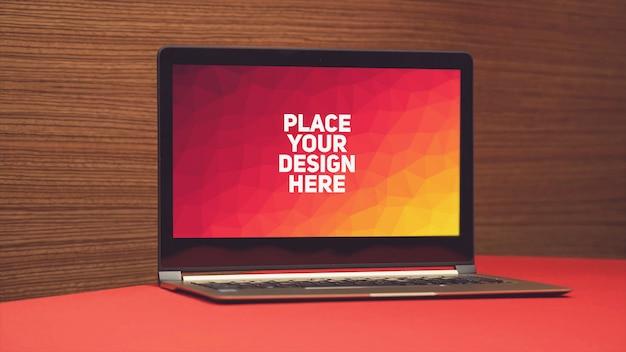 Laptop display mockup Premium Psd