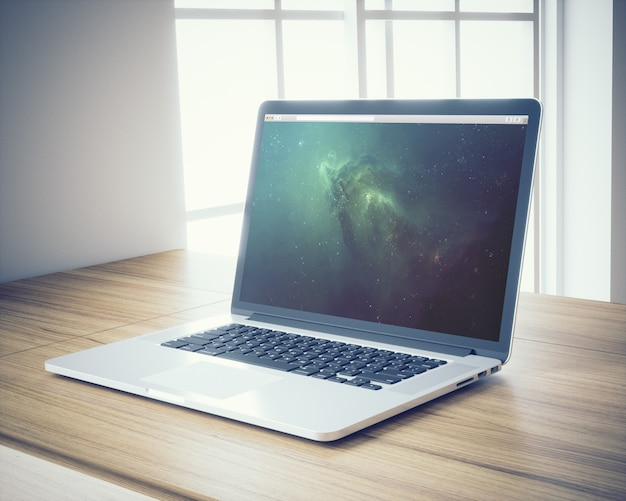 Laptop mock up design Free Psd