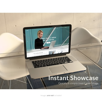 디자인을 모의 노트북
