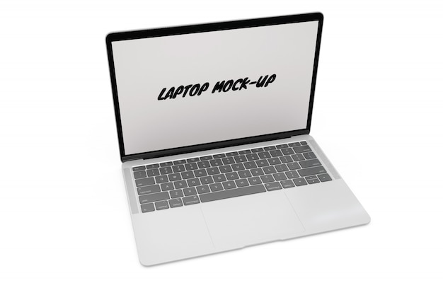 Макет ноутбука, изолированный