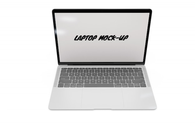 Laptop mock-up isolated