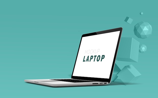 Laptop mock-up premium free