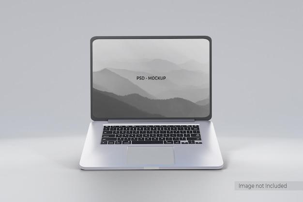 Дизайн макета ноутбука, изолированный на сером