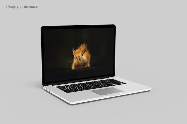 Ноутбук макет дизайн визуализации изолированные