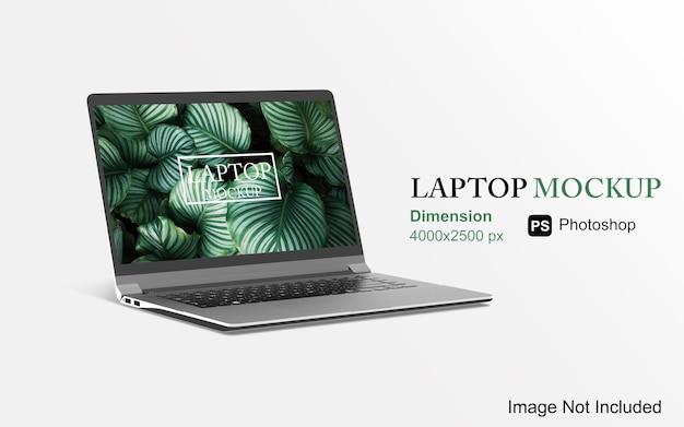 Изолированный рендеринг дизайна макета ноутбука