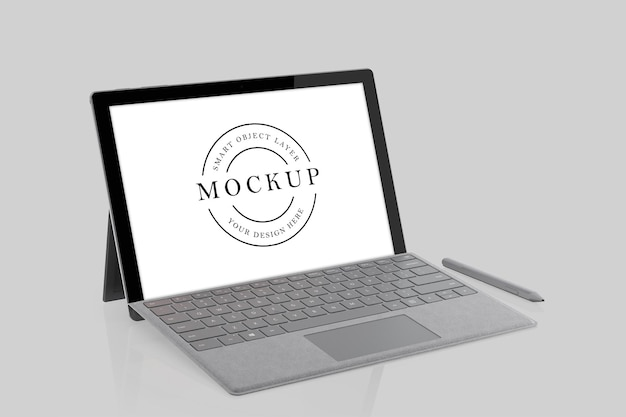 Laptop mockup design rendering