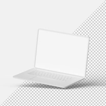 ノートパソコンのモックアップ分離3dレンダリング