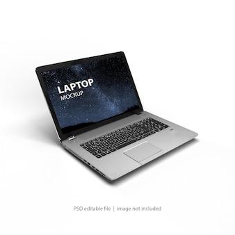 Изолированный рендеринг макета ноутбука