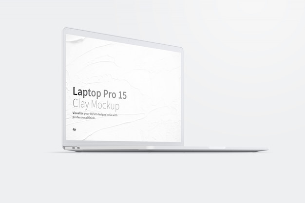 Laptop mockup with blank screen