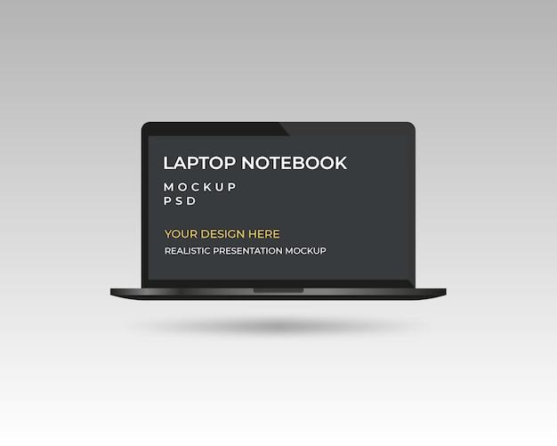ラップトップノートブックデバイスのモックアップテンプレート