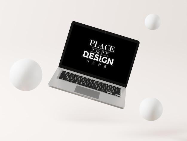 Ноутбук на макете рабочего места
