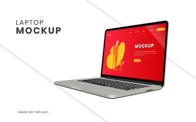 Laptop screen mockup isolated