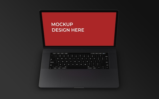 Шаблон оформления макета экрана ноутбука psd
