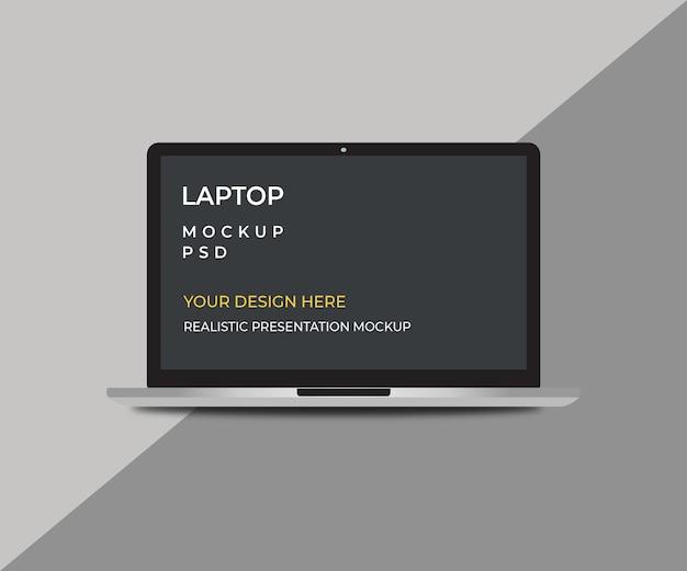 Макет экрана размера ноутбука изолирован