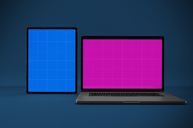 Laptop and tablet mockup