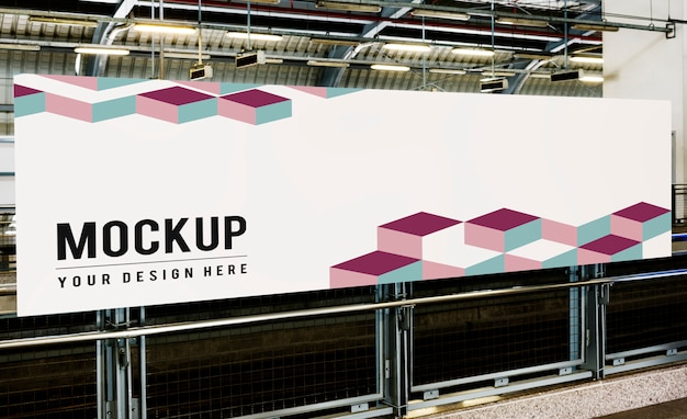 Large billboard mockup for advertisements