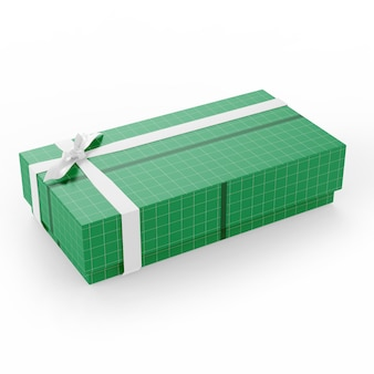 Large carton gift box mockup