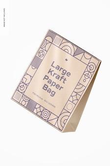 Большой макет пакета из крафт-бумаги, плавающий