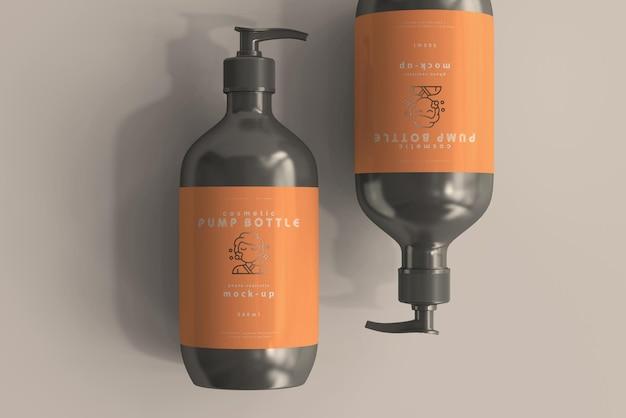 Large pump bottle mockup