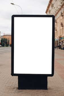 Large shield for outdoor advertising, installed along highways, streets and crowded place