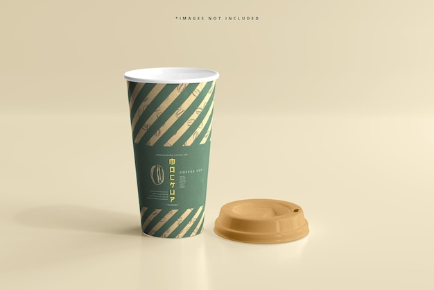 Large size biodegradable paper cup mockup