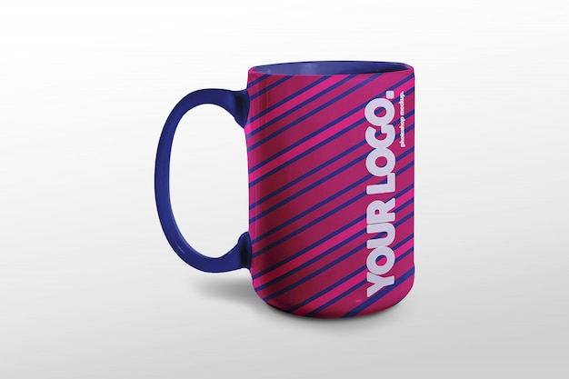 Large size cup mockup