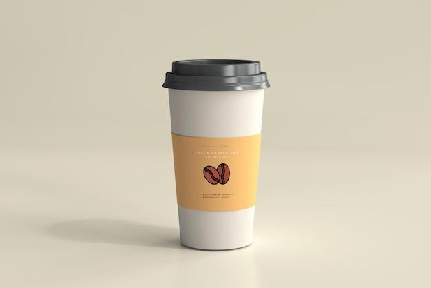 大きいサイズの紙のコーヒーカップのモックアップ