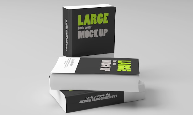 Large softcover book mockups
