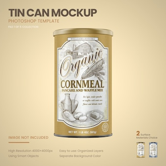 Large tin can mockup